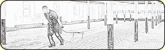 Hard at work on the maltings floor